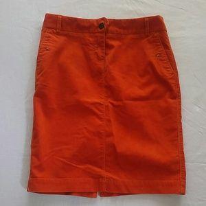 J Crew corduroy pencil skirt size 0